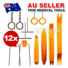 12Pcs Car Audio Door Clip Panel Trim Dashboard Kit Radio CD Removal Pry Tool Set
