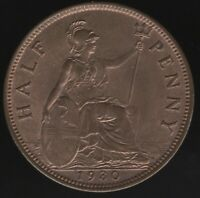 1930 George V Halfpenny Coin | British Coins | Pennies2Pounds