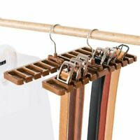 Closet Storage Rack Tie Belt Scarf Organizer Rotating Hanger Holder Space Saver