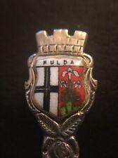 Andenkenlöffel Fulda 800er  Silber Mokkalöffel