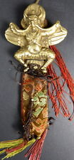 BRONZE GARUDA WALL HANGING THOKCHA THOGCHAG PROTECTION AMULET + GARUDA CLOTH