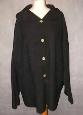 lovely warm ELEMENTE CLEMENTE pure virgin wool jacket size 3 dark grey