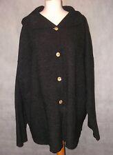 lovely warm ELEMENTE CLEMENTE pure virgin wool jacket size 3 dark grey