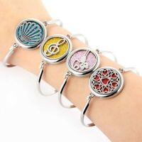 1Pcs Stainless Steel Locket Aromatherapy Essential Oil Diffuser Bracelet Bangle