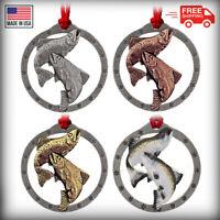 Creative Pewter Designs Coho Salmon Fish  Christmas Tree Ornament, F045OR