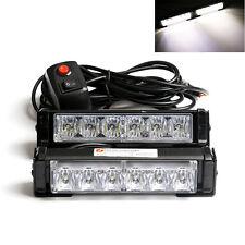 LED Flashing Car Truck Strobe Emergency Warning Light Bar Deck Dash Grill white