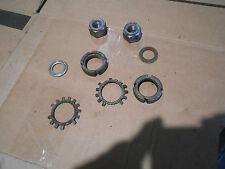 Yamaha YT125 YT 125 Tri Moto 3 wheeler 1981 rear axle nuts back shaft parts