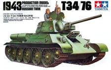 T34/76 1943 Russian Tank - 1/35 Military Model Kit - Tamiya 35059