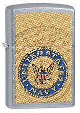 Zippo Windproof Lighter With The United States Navy Seal, 29384, New In Box