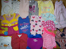 39x BABY GIRL BUNDLE CLOTHES 6/9 MTHS 9/12 MTHS  DRESS TOPS  trousers (3.9)