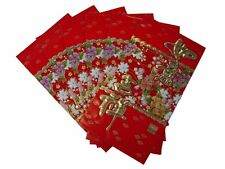 60PCS Big Chinese New Year Money Envelopes Hong Bao Red Packet W/ Flower Pics
