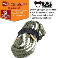20 gauge shotgun Bore Snake barrel cleaner / 20GA boresnake barrel cleaner cord