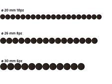 Feltrini Adesivi Rotondi Tondi Colore Marrone Marroni Diametro 20 - 26 - 30 mm