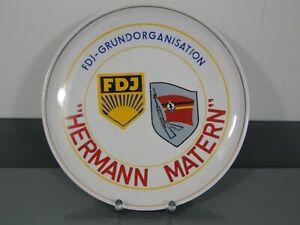 Teller,Hermann Matern,FDJ-GRUNDORGANISATION,Weisswasser,MfS,DDR