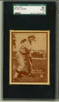 1931 W517 #7 BILL SHORE Philadelphia Athletics SGC VG/EX 4 BROWN COLOR VARIATION