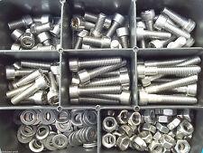 180 Teile Edelstahl Sortiment Set DIN 912  BOX M4 Rostfrei V2A