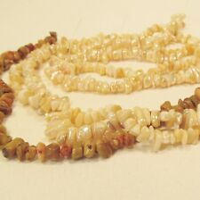 3 Strands Mother of Pearl Shell Chips Nuggets Natural Shiny Brown Beads