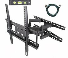 """TV Wall Mount Bracket Dual Arm Articulating Swivel LCD LED Full Motion 32""""-65""""in"""