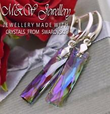 925 Silver Earrings Queen Baguette Paradise Shine 25mm Crystals From Swarovski®