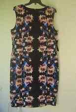 NWT TAHARI ASL  BLACK FLORAL CAREER SHEATH DRESS SIZE 14 $128