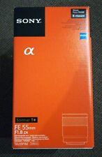 Sony FE 55mm f1.8 ZA Carl Zeiss Sonnar T* Lens SEL55F18Z