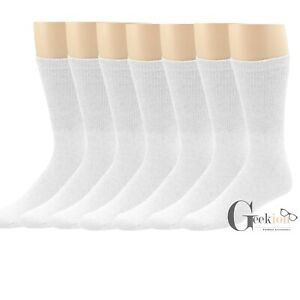 Lot 3-12 Pairs Mens Cotton Athletic Sports Work Crew Solid Socks Size 9-11 10-13