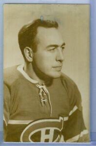 1940's B&W Portrait Montreal Canadiens Habs  Postcard - HECTOR TOE BLAKE