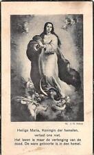 "Sterbebild Heiligenbild Gebetbild Andachtsbild"" Holy card "" H1924"" Hl Maria"