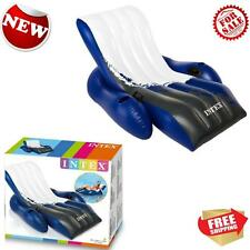 Intex Floating Recliner Inflatable Swimming Pool Chair  Lounge Heavy Duty Handle