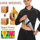 Men Polymer Sauna Suit Vest Hot Sweat Shirt Thermal Body Shaper Gym Training