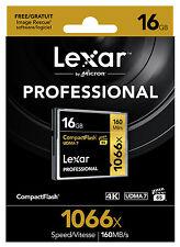 Lexar Professional 16GB 1066X 160MB/s Compact Flash CF Memory Card 4K Vide UDMA7