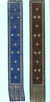 Leather Bookmark Blue Brown Silver Stars Geometric Heraldic Crest Gift Him Man