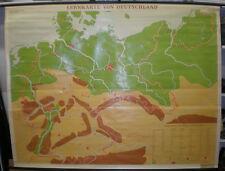 Schulwandkarte Wandkarte Lernkarte von Deutschland Gre1937 1963 Germany 209x160