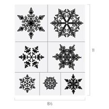 Chalk Couture SNOWFLAKES Transfer NEW Christmas Winter Snow