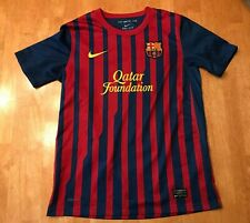 FC Barcelona Messi Nike Dri Fit Authentic Jersey Youth Size Large