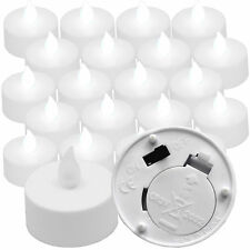 20 Qty COOL WHITE Flickering Battery Operated Tea Lights for Luminary Bags Weddi