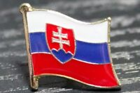 SLOVAKIA Slovakian Country Metal Flag Lapel Pin Badge *NEW*