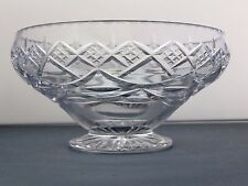 LARGE HEAVY CUT GLASS LEAD CRYSTAL FRUIT SALAD TRIFLE SERVING FOOTED BOWL 20CM D