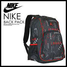 NIKE AIR JORDAN JUMPMAN SCHOOL BACKPACK 9A1223-058 LAPTOP BOOK BAG Black Red NWT