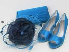 Jacques Vert Turquoise Court Shoes (6)  Fascinator & Bag ~ BNWBox ~ Matching Set