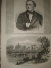 Bishop's College Lennoxville Canada & Benjamin Guinness 1865 prints ref T