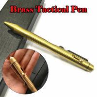 EDC Gear Self-defense Pull Bolt Brass Tactical Pen Outdoor Emergency  Survival