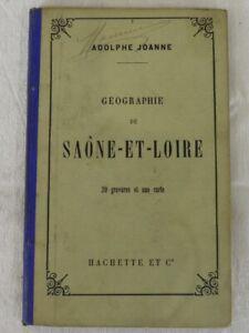 Geographie de SAONE-et-LOIRE - ADOLPHE JOANNE - Hachette et cie 1891
