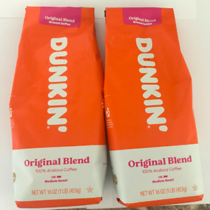 2 Lbs Dunkin Donuts Original Ground Coffee Bean