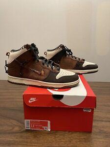 Nike x Bodega Dunk High Legend Fauna Brown CZ8125-200 Size 11.5