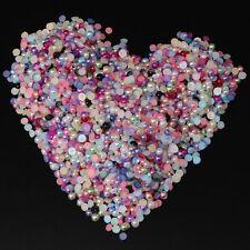 Lot 200 Pieces Demi Perles 2,5mm Mixte à coller, Decoration ongles, couture