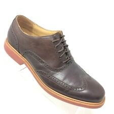 Cole Haan Great Jones Wingtip Oxford Orange Brown Leather Mens Shoe Size 10.5 M