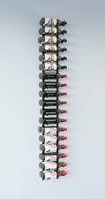 VintageView® WS62 6-Foot 36 Bottle Wall Mounted Wine Rack in Satin Black