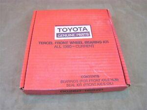 NOS! GENUITE TOYOTA PARTS NO.00260-16820 TERCEL FRONT WHEEL BEARING KIT 1980 -82