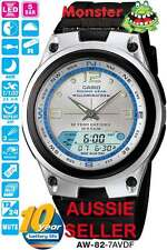 AUSSIE SELLER CASIO WATCH FISHING TIME AW-82 AW-82-7AV AW82 MOON AGE WARRANTY